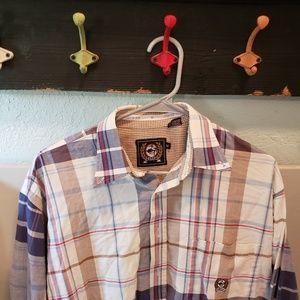 Cinch Western Shirt Plaid Cowboy sz M